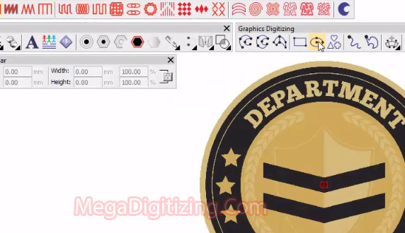 Ellipse-tools-digitizing