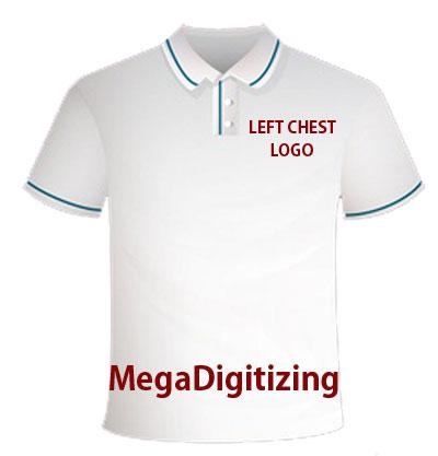 Left Chest Logo Embroidery Digitizing