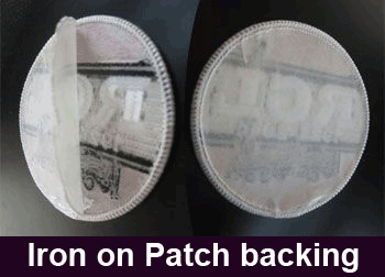 Iron on patch backing