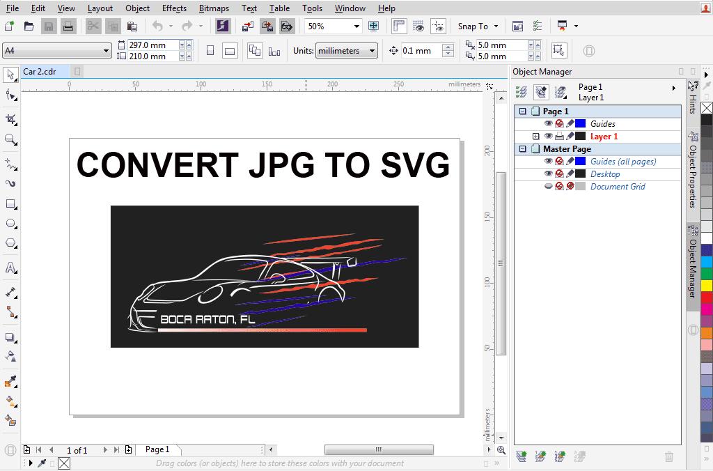 JPG to SVG Format
