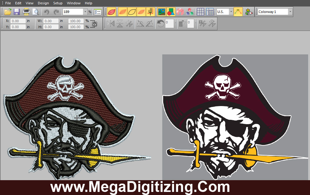 digitize logo using wilcom