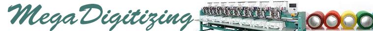 Professional & affordable custom embroidery & logo digitizing - Megadigitizing